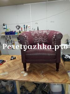 мягкое кресло после перетяжки