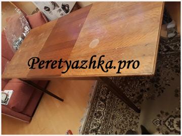 деревянный стол до реставрации
