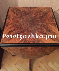 старинный столик до реставрации