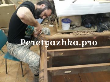 процесс  реставрации изделия